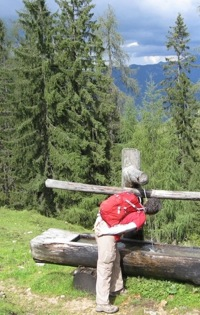drinking pure water in the Austrian Alps