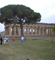 Temples at Paestum on Amalfi Coast
