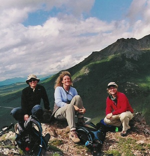 women hiking in Alaska