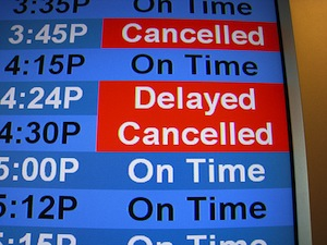 Delayed and cancelled flights