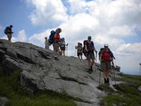 Women backpacking the Appalachian Trail
